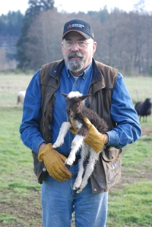 Robert and new lamb