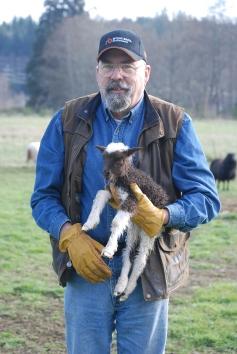 Robert and new lamb